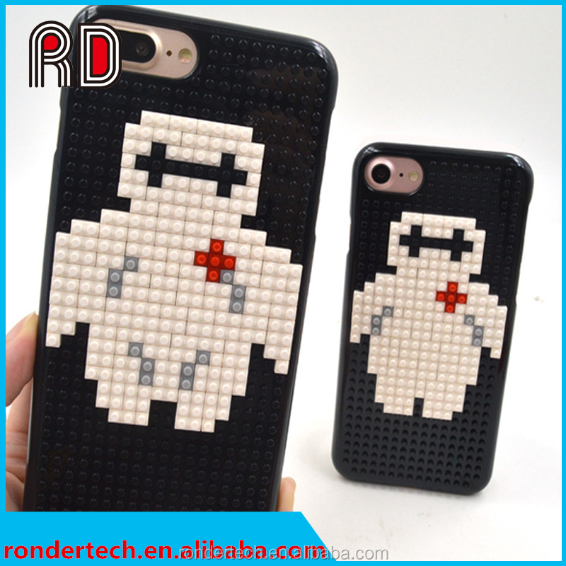 DIY building block mobile phone case cute cartoon 3d phone case for iPhone 6/6s