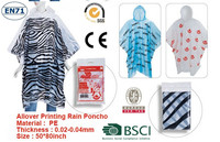 Raincoat/LDPE Material and Raincoats,Pe Poncho in ball Type poncho in wheels with chain
