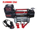 10000lb portable electric winch 24 volt solenoid winch with steel wire rope pulling