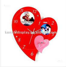 acrylic wall clocks wholesal Personalized Custom LOGO Decorative in Home &hotel wall clock different shape
