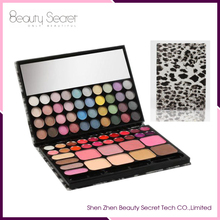 Super cool leopard makeup eyeshadow/Blush/lipgloss 3 in 1 cosmetic palette