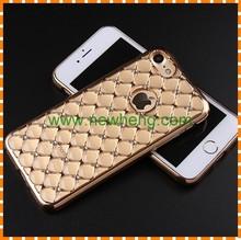 Soft Electroplated Frame Diamond Style Fancy TPU Cell Phone Cases for Iphone 7 plus