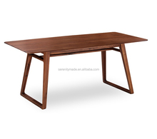 Bespoke restaurant solid wood square dining table with high quality