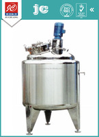 Enclosing sanitary grade vertical type liquid with suspended solids mixing tank stainless steel pharmaceutical jug