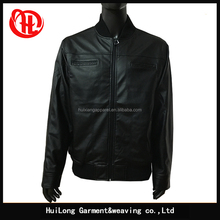 customized bomber style men pu leather jacket for men