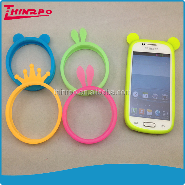 Silicone bumper case cover for mobile phone case,silicone mobile phone holder