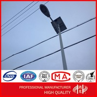10m Solar Energy Panel LED Lamp Post Street Lighting Pole with Galvanization and Powder Coated