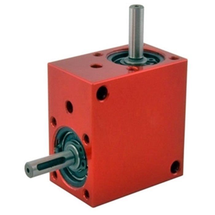 customized speed reducer steel two way 90 degree bevel gearbox