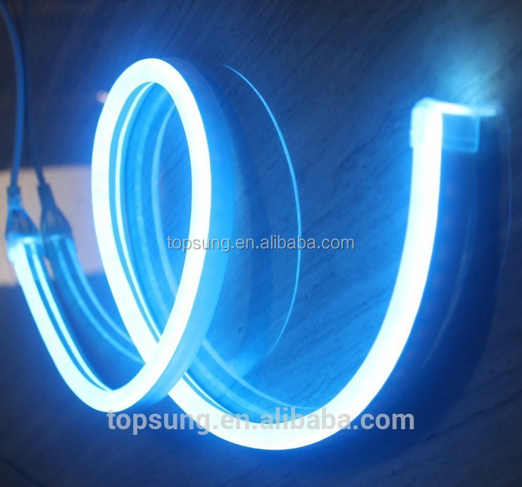 High quality 82'(25m) blue colored jacket 10x18mm ultra thin 24v led neon flex light shenzhen factory