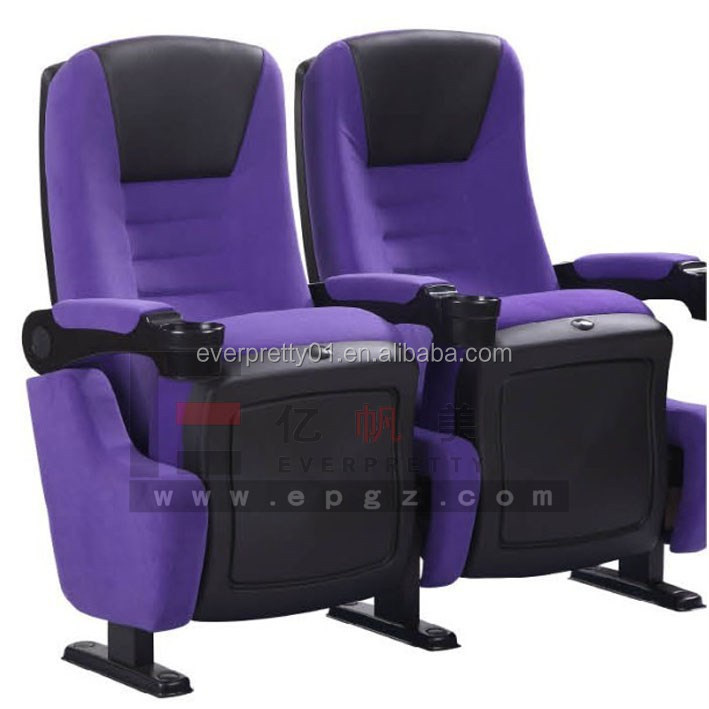 Hot Sale Auditorium Seating Theatre Chair with Fabric Cover , Auditorium Stadium Folding Seat Indoor Furniture