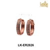 anti-allergic turkish jewelry wholesale rose gold plated CZ micro pave brass turkish gold huggie earrings for ladies