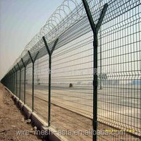 Blue/Green/White Welded Wire Mesh Fence with folds / Anti-climb Welded Mesh Fence/Temporary Fence