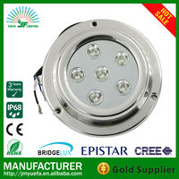 Led Underwater Light with 316L Marine Stainless Steel/18W Led Aquarium Light for Marine Use