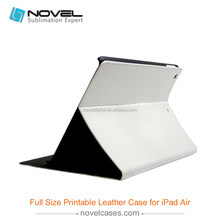 DIY printing full size blank sublimation pu leather housing for Ipad Air