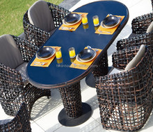 Heavy-duty Hot Sale High Quality Modern Dining Room Furniture, Plastic Table and Chair