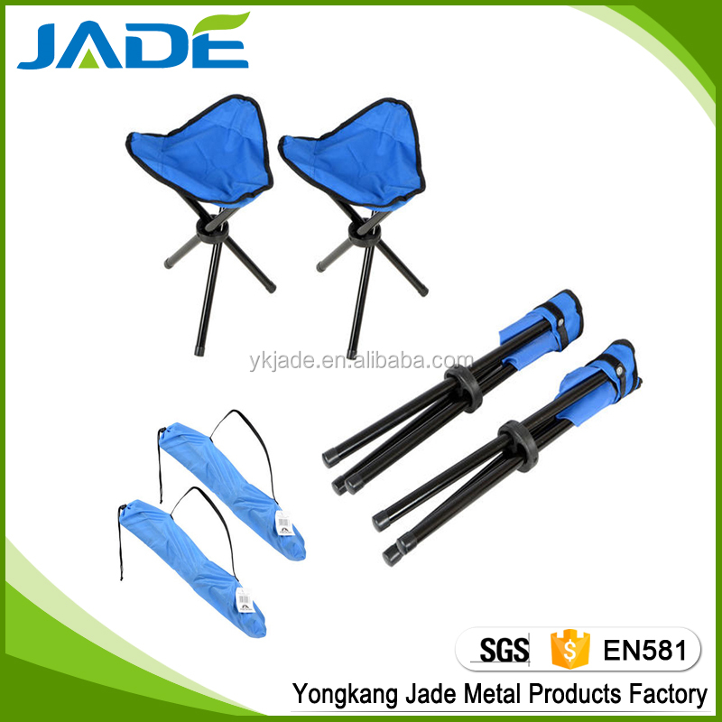 600D Polyester Outdoor Three Legs Small Folding Fishing Camping Stool folding 3 legs chair