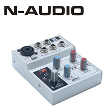 2017 N-AUDIO 3 channel USB interface mixer sound card from China