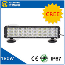17 inch 180w led work light bar flood beam Cree LED Chip 3 Rows import used auto parts for Offroad, 4X4, Trucks
