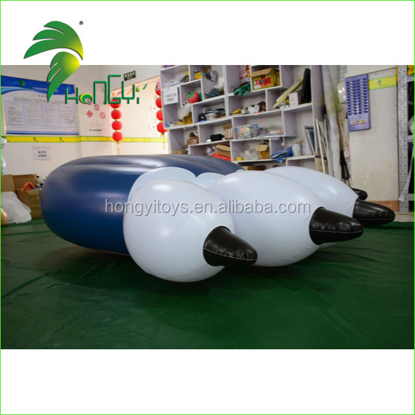 Soft Airtight PVC Inflatable Air Mattress , Inflatable Paw Mattress From Hongyi