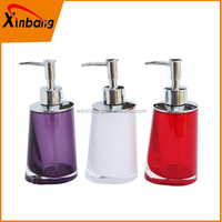 Home Hotel bathroom accessories acrylic glass pump ationc lotion bottle angled liquid soap dispensers