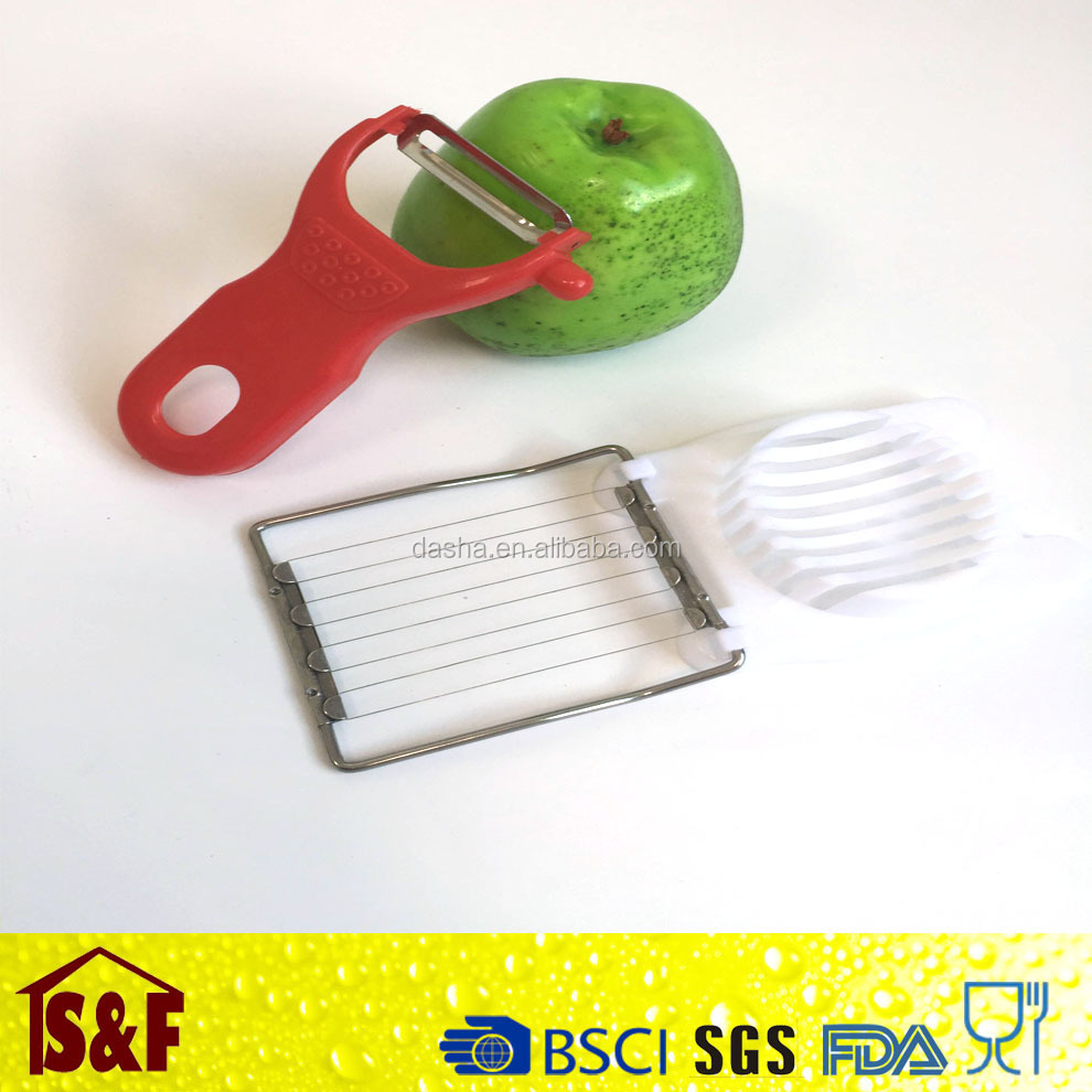 New Gadgets Egg Cutter And Stainless Steel Vegetable &Apple&Potato Peeler