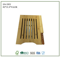 2016 New Design Eco-Friendly Bamboo Cutting Board With Knife and Drawer