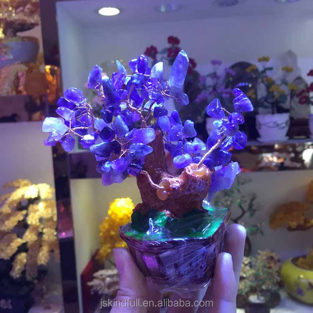 Wholesale colorful fancy decorative different kinds of wishing crystal trees