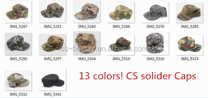 Wholesale Outdoor Tactical Airsoft Army Camouflage Military Cap Men Multicam Soldier Combat Train Hat Flat Hunting Baseball Caps
