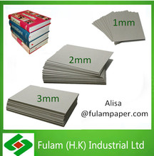 Grey board book binding 1mm 2mm 3mm thick grey paper board grey board