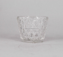 High Quality Crystal Glass Candle Jar Tealight Glass Jar Candle Holder