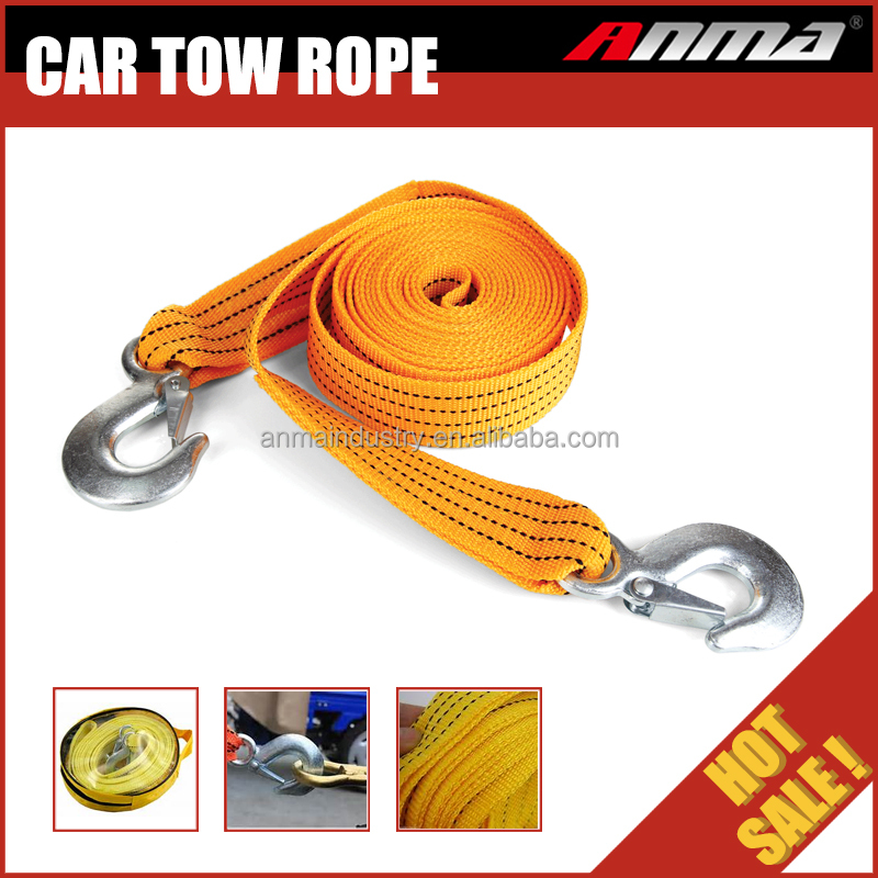 3T 3M Heavy Duty custom car tow rope Tow Strap with Hooks