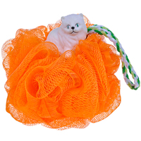 (BA-E-005) Wholesale Shower Body Exfoliate Puff Sponge Mesh Net Ball With Animal Doll