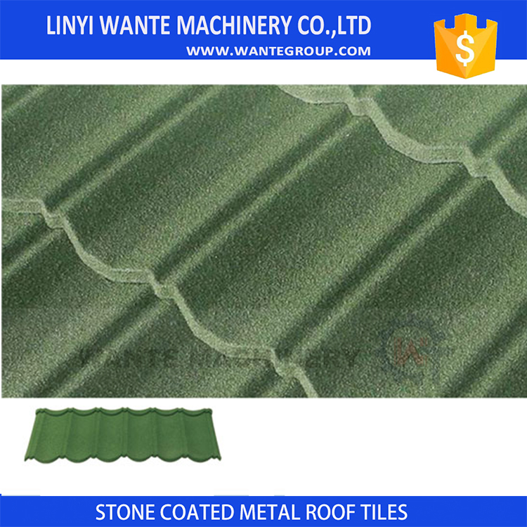 Linyi Factory Selling Coloured Sand Coated Steel Roof Tile, Alu-zinc Coated Steel Roof Tile in Africa