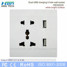 Malaysia Singapore using Multi plug wall mounted usb outlet 220V ac wall socket