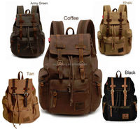 100% New Hiking Shoulder military backpack canvas backpack