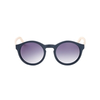 Mirror Lens Bamboo Arms Women Sunglasses