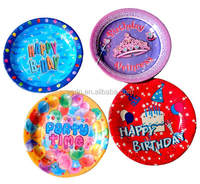 printed shrink pack party paper plates