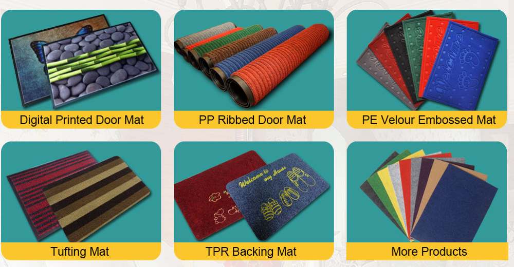 Absorb water printed non-woven door mat