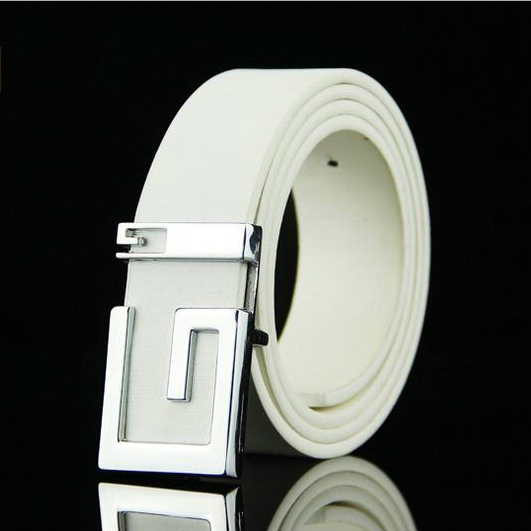 MOON BUNNY New Letter Brand Designer belts Men High quality Luury PU leather lucci Belt Metal Buckle Strap Ceinture homme Feraga