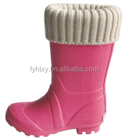 stylish wellies felt rubber high heel boots for kids