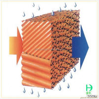poultry farm equipment Brown Paper Evaporative Cooling Pad for chicken house ventilating system