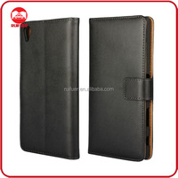 Manufacturer Wholesaler Mobile Phone Stand Book Style Leather Wallet Flip Case for Sony Z5 Premium Plus