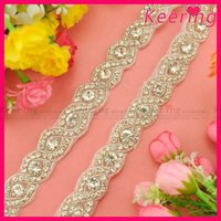 wholesale rhinestone applique trimming for wedding dress