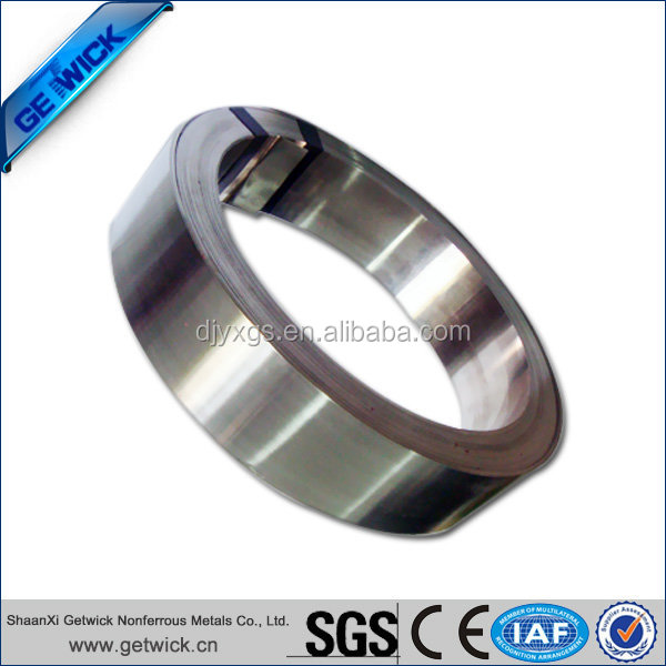 Nickel alloy strip coil for battery