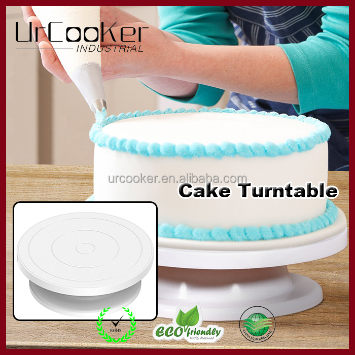 The Amazing cake turntable plastic rotating cake stand with 11 inch platform