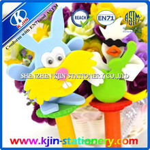 cute ballpoint pen with cartoon toy for kids/ promotional ballpoint pen /funny ballpoint pen