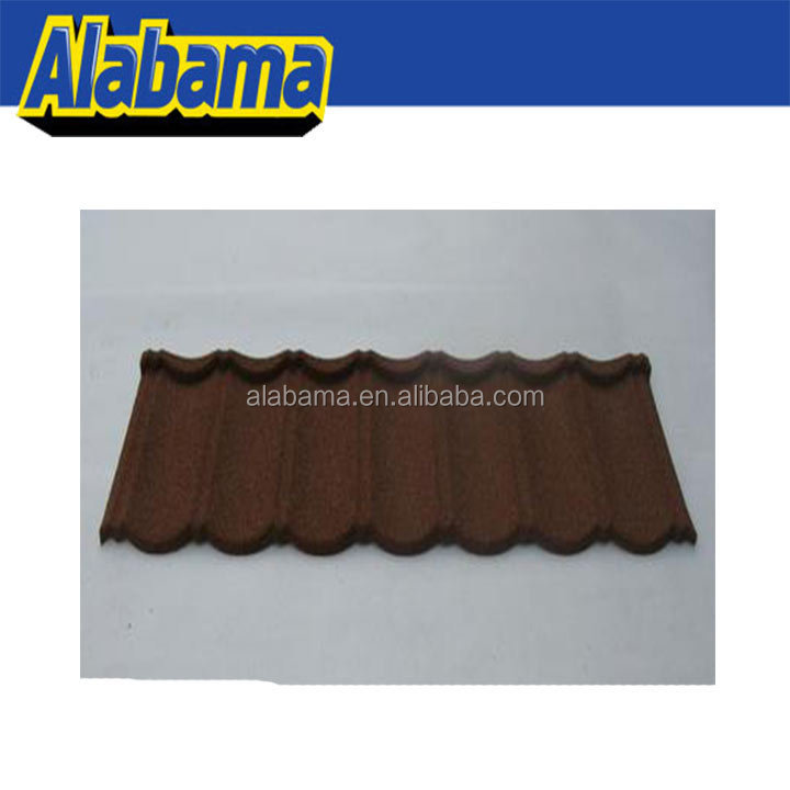 ISO quality management system high quality waviness roof tile, steel roofing, color stone tiles