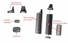 Most Popular Glass Mouthpiece Vaporizer Smoking Device 3000Mah Baking Dark Knight Vaporizer