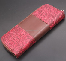C1485 red scissors leather case for 1 pc