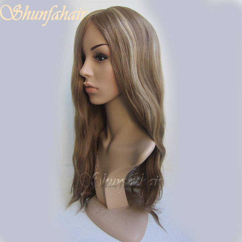 mix medium brown color short full lace wigs